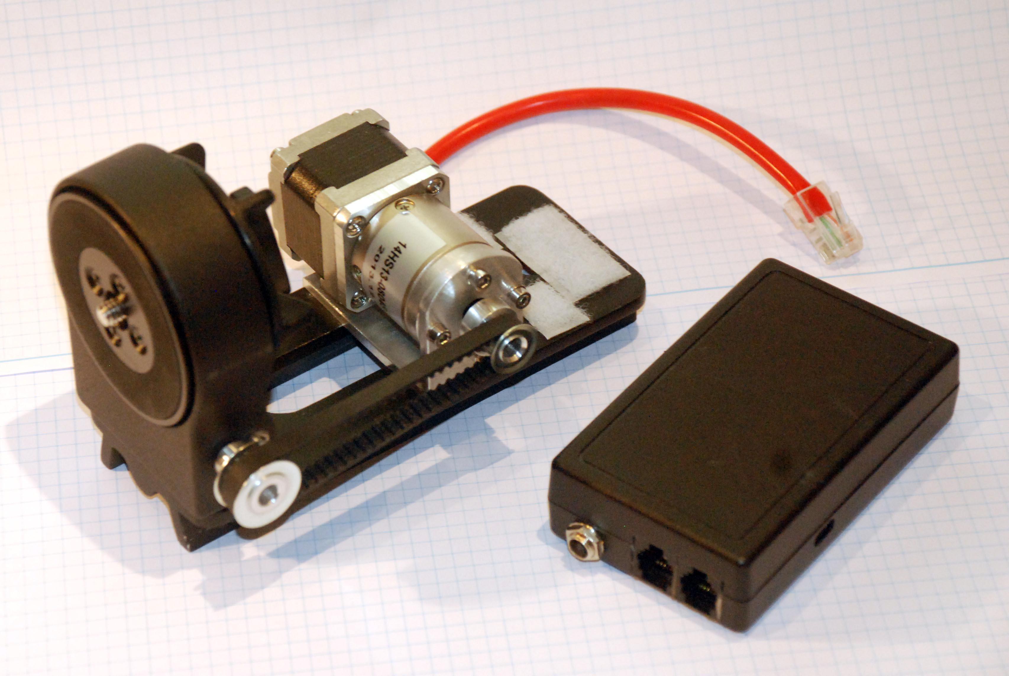 L-Schiene mit Schrittmotor für DE-Antrieb